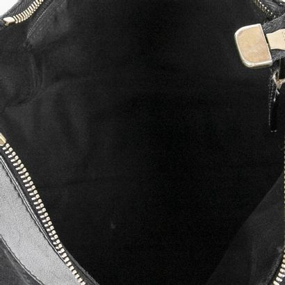 """GUCCI Sac """"D-Ring Hobo"""" MM - """"D-Ring Hobo"""" MM bag Guccissima"""" canvas and black leather..."""