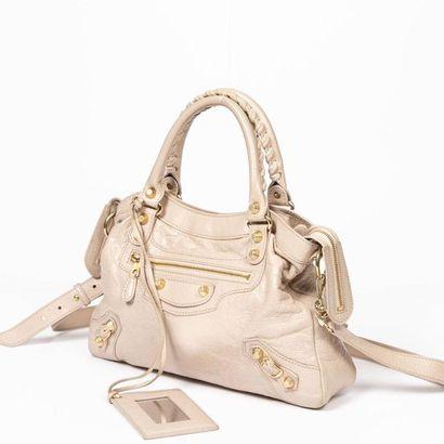 "BALENCIAGA Sac ""Giant 12 Town""- ""Giant 12 Town"" bag Powdered pink aged leather  Gold..."