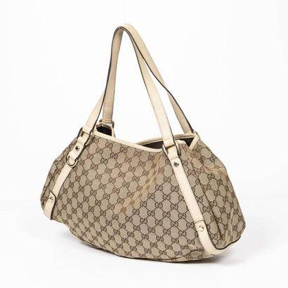 "GUCCI Sac ""Abbey Hobo Diagonal Line"" - ""Abbey Hobo Diagonal Line"" bag Canvas ""Guccissima""..."