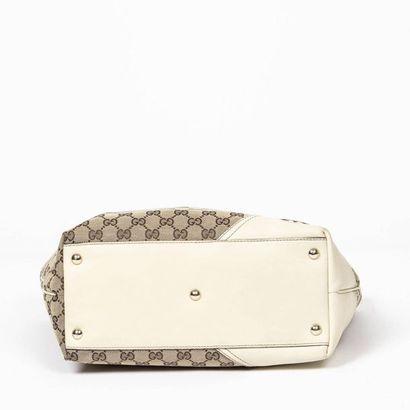 "GUCCI Cabas ""Britt"" PM - ""Britt"" PM tote Beige ""Guccissima"" canvas, ivory leather..."