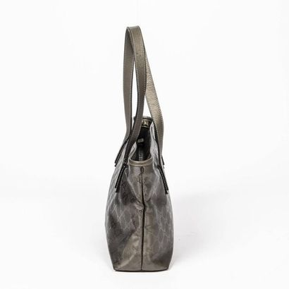 """GUCCI Cabas - Tote Coated """"Guccissima"""" metallic steel fabric  Silver plated metal..."""