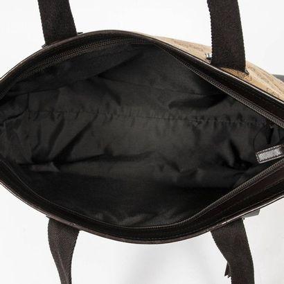 "GUCCI Cabas - Tote Praline ""Guccissima"" canvas, chocolate leather  Silver metal trim..."