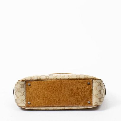 "GUCCI Cabas - Tote Canvas ""Guccissima"" praline, pork gold  Ruthenium metal fittings..."