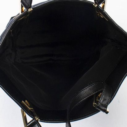 """GUCCI Cabas - Tote Guccissima"""" canvas and black leather  Gold metal trim  17 x 23..."""