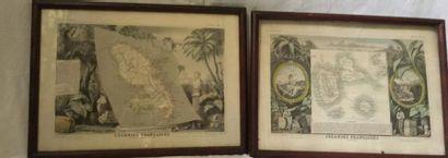 PAIRE de GRAVURES représentant la Martinique...