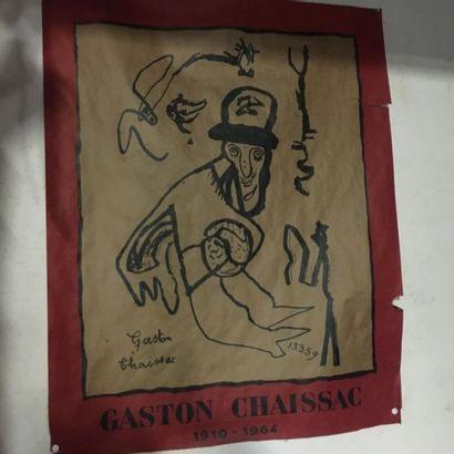 Gaston CHAISSAC (1910-1964) Affiche 70,5...