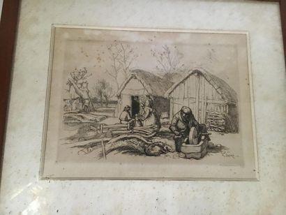 Auguste LEPERE (1849-1918) Gravure représentant...