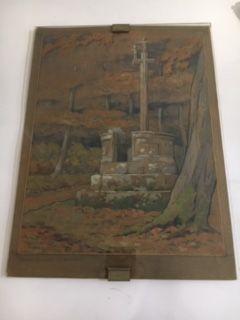 Marc CHOISNARD, (1879-1966) Aquarelle chaire.callevaire...