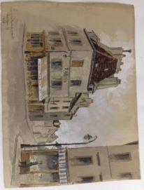 Marc CHOISNARD, (1879-1966) Aquarelle rue...