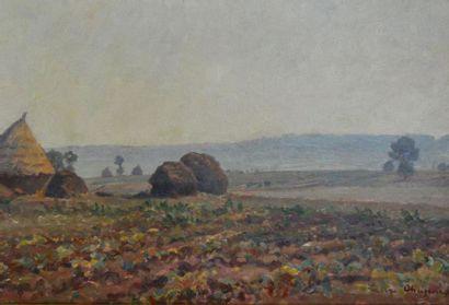 Pierre CHAPUIS (1863 - 1942) Les meules Huile...