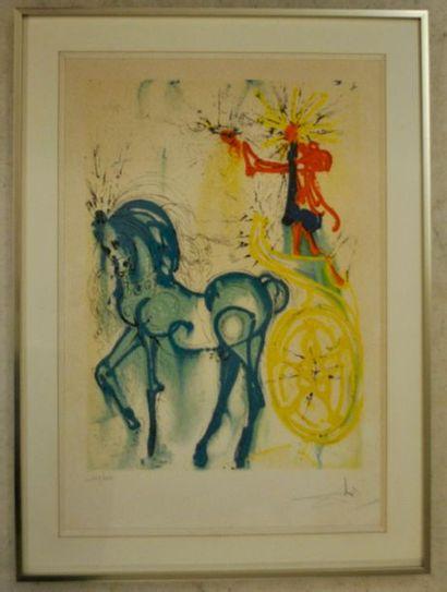 D'après Salvador DALI Le cheval du triomphe...
