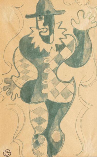 Gio COLUCCI (Florence 1892- Paris 1974) Arlequin...