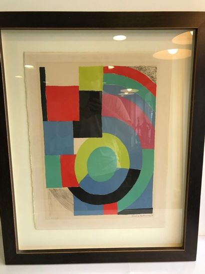 Sonia DELAUNAY (1885-1979) Composition Lithographie...
