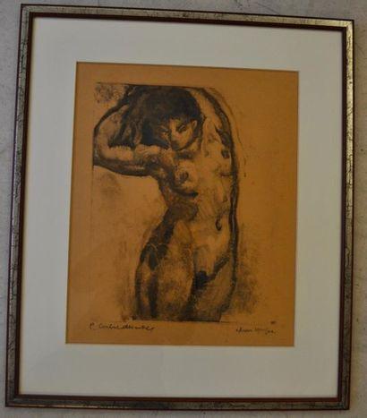 Pierre COMBET- DESCOMBES (1885-1966) Nu de...