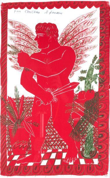 Alexandre FASSIANOS (né en 1935) Icare Lithographie...
