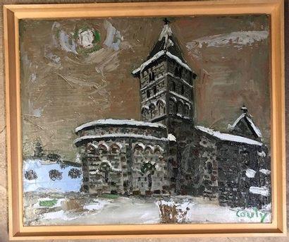 Jean COUTY (1907 - 1991) Eglise Saint sauvan...