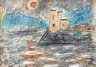 Jean COUTY (1907 - 1991) Vue de l'île Barbe...