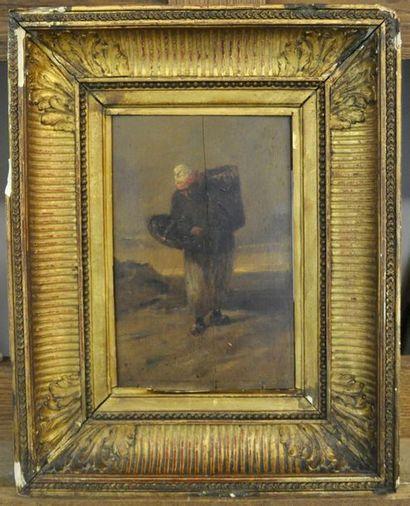 Attribué àJules DAVID (1808-1892) Pêcheur...