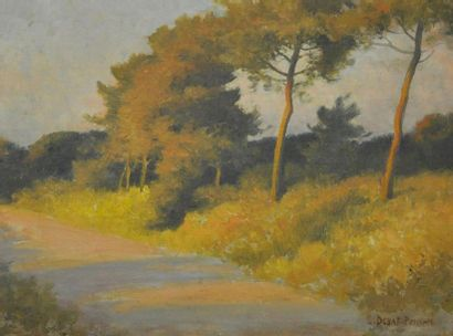 Edouard DEBAT-PONSAN (1847-1913) Paysage...