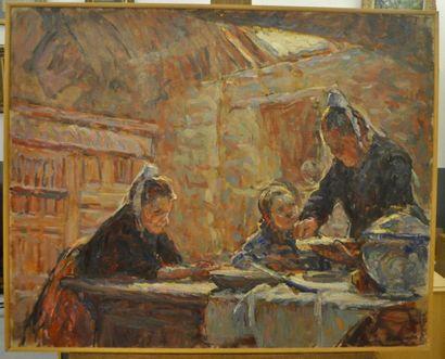 Henriette DESPORTES (1877-1951) La leçon...