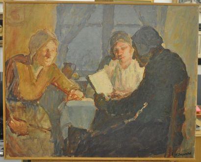 Henriette DESPORTES (1877-1951) La lecture...