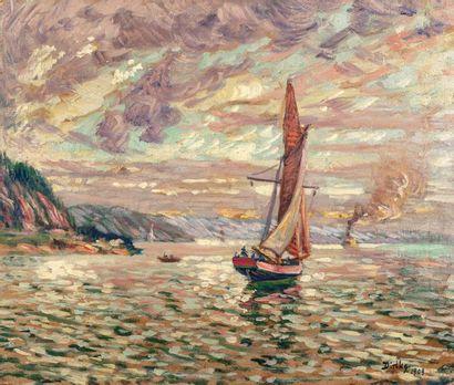 Edvard DIRICKS (Oslo 1855 - 1930) Bateaux...