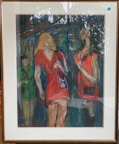 Roland DUBUC (1924-1998) Les dames Technique...