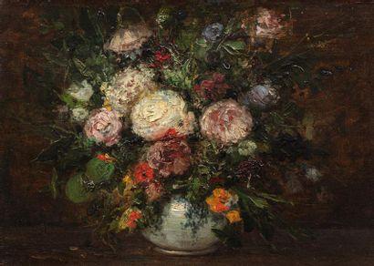 Ecole FRANCAISE du XIX ème siècle Bouquet...