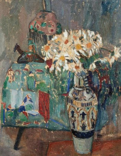 Adolphe FEDER (Odessa 1886 – Auschwitz 1943) Nature morte au bouquet de marguerites...