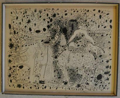 D'Après Pablo PICASSO (1881-1973) « L'écuyère...