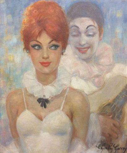 Charley GARRY (1891-1973) Pierrot et jeune...