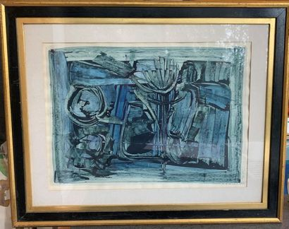 Roger Edgard GILLET (1924 - 2004) Composition...