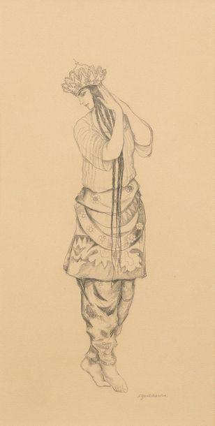 Attribué à Natalia GONTCHAROVA (Toula 1881...