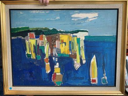 René GOUAST (Bolbec 1897-Paris 1980) Port...