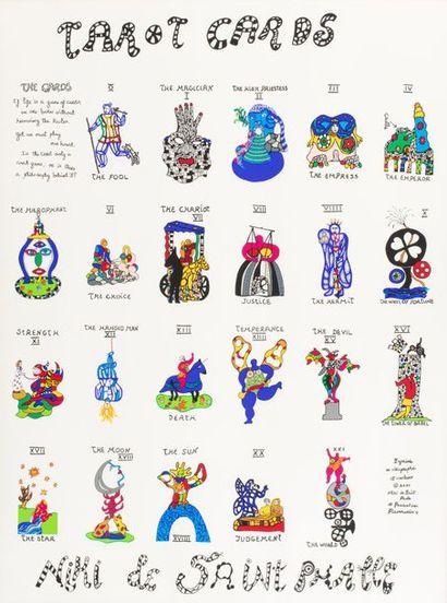 Niki de SAINT PHALLE Tarots cards Sérigraphie...