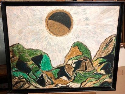 Gino GREGORI (1906-1973) Paysage Huile sur...
