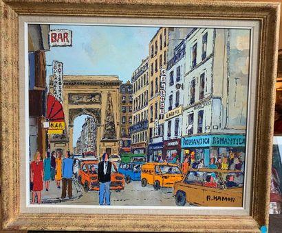 Roland HAMON (1909- 1987) Porte Saint Denis...
