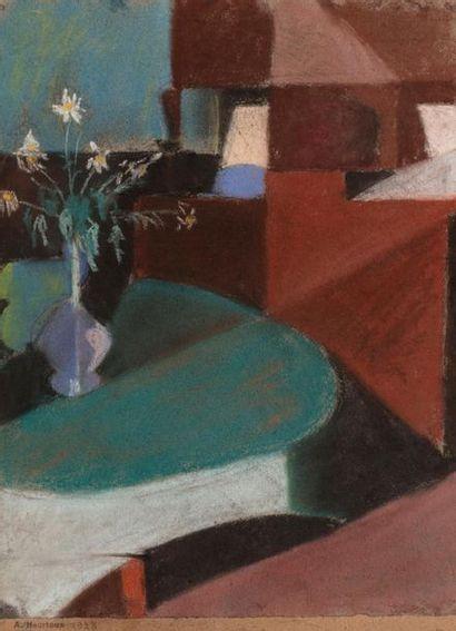 André HEURTAUX (1898-1983) Vase de fleurs...