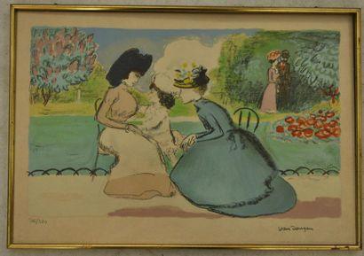 Kees VAN DONGEN Elégante Dame dans le parc...