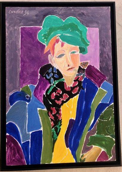 Henri LANDIER (1935) Portrait de Marine Assoumov...