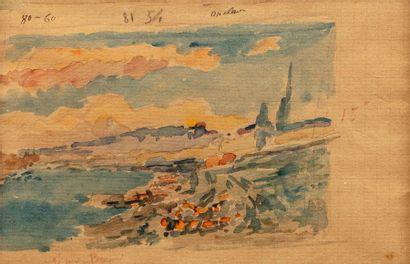 Albert LEBOURG (1849 -1928) Étude de bord...