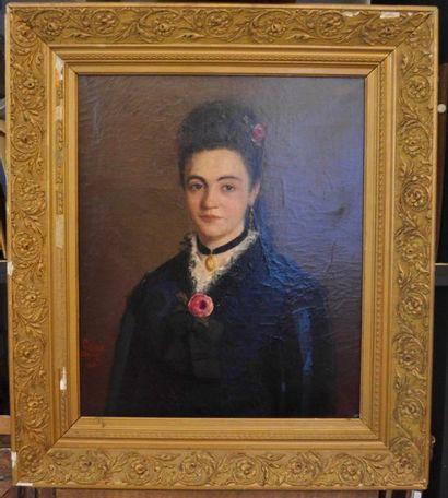 Emile Carolus LECLERCQ (1827-1907) Jeune...