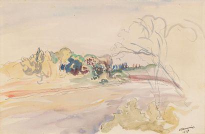 Lucien MAINSSIEUX (Voiron 1885 - 1958) Paysage...