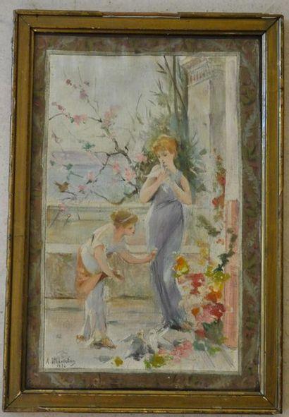 Jean Alfred MARIOTON (1864-1903) Jeunes filles...