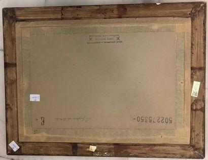 Lucien Philippe MORETTI (1922 - 2000) Le jongleur de soleil Aquarelle 36 x 53 cm...