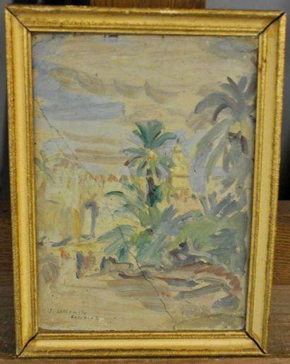 Jules LELLOUCHE (1903-1963) Paysage Huile...