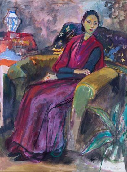 Romora NIYOGI (Actif au XXème siècle) Portrait...