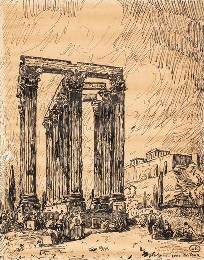 Louis PASTOUR (Cannes 1876 - 1948) Temple...