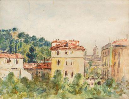 Auguste PEGURIER (1856 - 1936) Vue d'atelier...