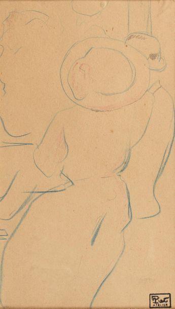Fernand PIET (Paris 1869 - 1942) Couple Crayon...
